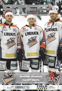 2007 Sheffield Steelers v Cardiff Devils Ice Hockey Programme (26/12/07)