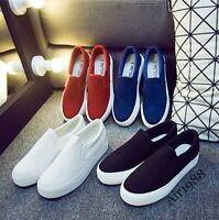 New Womens Leisure Shoes Flats Slip On Casual Shoes Platform Womens Loafers @