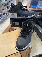 Air Jordan 3 Retro Fear Size 11 Night Stadium Total Orange 626967-040