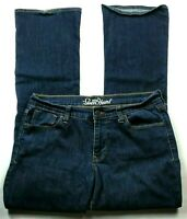 BHS Ladies Darkwash Stretch Bootleg Jeans Size 8 Long New £16