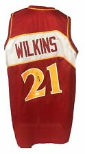 Dominique Wilkins Autographed Pro Style Red Jersey JSA Authenticated