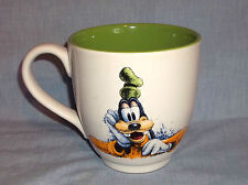 Disney Goofy Cartoon Dog Thinking Hard Wide Mouth Cup Mug Tall Heavy Cute