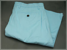 """NEW LANDS' END Traditional Fit 11"""" Stretch Knockabout Chino Shorts - Aqua Shell"""
