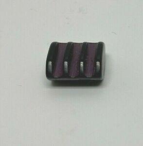 Purple and Black Ridged Bakelite Button