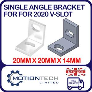 Single Universal Angle Bracket 2020 V-Slot Aluminium Profile for CNC 3D Printers