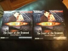 DOCTOR WHO . CD AUDIO BOOK . THE FEAST OF THE DROWNED PARTS ONE AND TWO . MINT