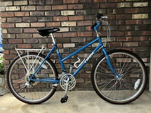 VINTAGE TREK 800 TOURING MOUNTAIN BLUE BICYCLE 18 SPEED DROP FRAME USA MADE