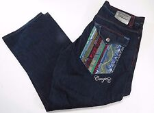 Coogi Jeans Australia Men's 40 X 33 Muli-Color Striped Embroidered Pockets MINT