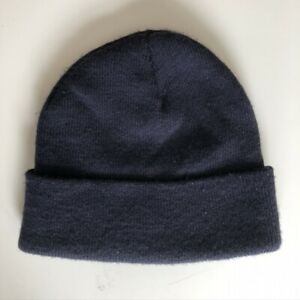 Navy Blue Acrylic Watch Cap Beanie MADE IN THE USA