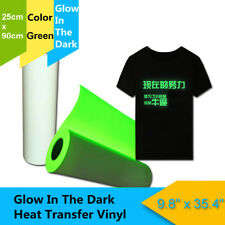 90cm 140℃ PU T-Shirt Heat Transfer Vinyl Roll Textile Glitter White / Green