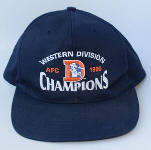 DENVER BRONCOS WESTERN DIVISION CHAMPIONS AFC 1996 Adjustable Baseball Cap Hat