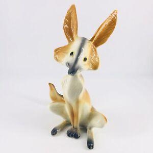 Vintage California Pottery Freeman McFarlin Style Fennec Fox or Coyote Figurine