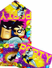 BATMAN SUPERHERO BIRTHDAY PARTY INVITATIONS - PARTY ITEMS PACK OF 10