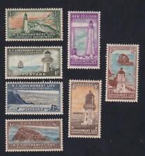 New Zealand 1947-1965 Life Insurance-Lighthouses, MH set of 7