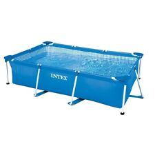 New Intex Rectangular Steel Frame Family Paddling Pool Swimming Pool 2.6m