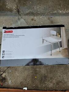 Delta DF565 Bathroom Safety Adjustable Bath Safety Transfer Bench White