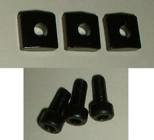 Floyd Rose Lic BLACK Locking Nut BLOCKS & SCREWS 3 clamp 6 string Special *NEW**