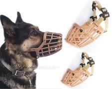 Plastic Pet Dog  Basket Adjustable Training Muzzle Bark Bite Mouth Chew Control