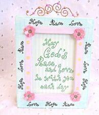 "God'S Peace Love Hope Frame Ce 00004000 Ramic Flowers Home Decor 5-1/2"" X 7"""