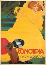 Fonotipia DISCHI Artistici, 1906, por Marcello Dudovich cartel de música clásica