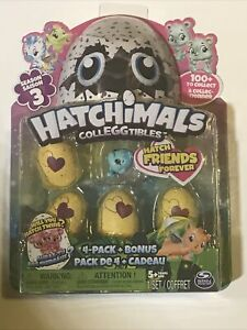 Hatchimals Season 3 Colleggtibles 4 Pack + Bonus by Spin Master ~ NEW SEALED