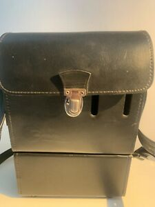 Multiblitz Press Universal Leather Case w Battery for Flash Vtg. 1970's Germany