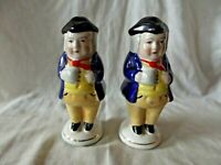 A Pair of Staffordshire Figeral Condiments of Toby Fillpot Holding His Ale
