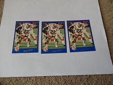 1991 JOGO CFL #177 DOUG FLUTIE LOT OF 3 CARDS