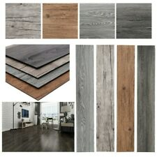 4.1m² Floor Planks Tiles Self Adhesive Grey Wood Vinyl Flooring Kitchen Bathroom