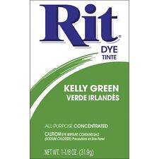 Rit Dye Tinte All Purpose Concentrated Fabric Powder Kelly Green Verde Irlandes