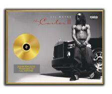 Lil Wayne Poster, Tha Carter II GOLD/PLATINIUM CD, gerahmtes Poster HipHop Rap