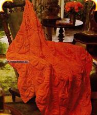 LEAF MOTIF RUG / THROW - 8ply or D.K.  - COPY Afghan knitting pattern