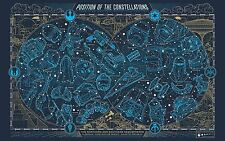 "Star Wars VII Galactic Constellation Map - 42"" x 24"" LARGE WALL POSTER PRINT NEW"