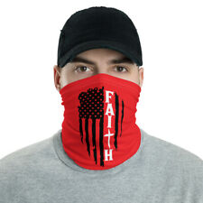 New Faith Flag Unisex Face Mask/Neck Gaiter Red One Size Free Shipping