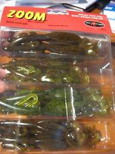 "Zoom Kit 5 Soft Plastic Fishing Baits Assorted 6"" Brush Hog & 5"" Baby Brush Hog"