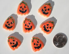 Halloween Pumpkins Resin Flatbacks hair bow embellishments scrapbooking glue on