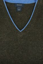 Gant Men's Brown & Blue Trim Wool Sweater Vest XL XLarge