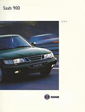Saab 900 Folleto de mercado del Reino Unido 1993-94 36 páginas incl 2.0 Turbo 2.5i V6 2.3i & 2.0i