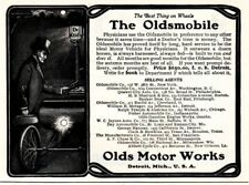 1902 ad vintage Dr Olds at night Oldsmobile car Doctor Physician Rider Ericsson