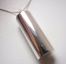 Cylinder Necklace 925 Sterling Silver Corona Sun Jewelry
