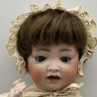 """Antique German Hertel Schwab Baby doll 152 8 1/2 Bisque Composition 16"""""""