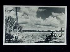 1960's? RPPC Dock Shore Moon Lake New Port Richey FL