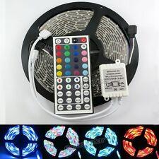 3528 300 LED Strip RGB Waterproof 5M SMD Light+free 44IR Remote Controller Flash