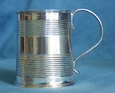 Antique URQUHART & HART 1809 Georgian Sterling Silver Tankard Christening Mug