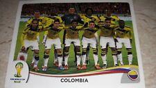 FIGURINA CALCIATORI PANINI BRASIL 2014 COLOMBIA SQUADRA 185 ALBUM MONDIALI