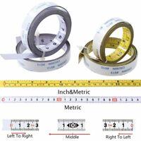 Metric Self Adhesive Tape Measure Steel Miter Saw Scale Track Ruler Woodworking