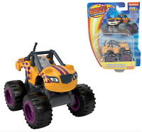 Blaze and the Monster Machines STRIPES Racing Flag Diecast Car Fisher Price NEW