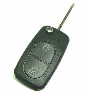 Auto Schlüssel Ersatz Klapp Schlüssel GEHÄUSE für VW Golf 4 - 2 Taster
