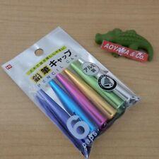 Kutsuwa Japan Stad Metal Pencil Cap Multi Colors 6-Cap Rb016