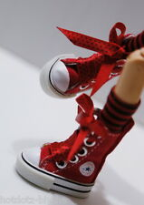 Custom Sneakers Shoes For Blythe/Pullip/Monster High/Lalaloopsy - SN219, Red